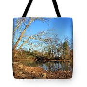 Lake And Trees In Early Spring Tote Bag