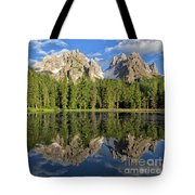 Lake Antorno Tote Bag by Yair Karelic