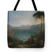 Lake Avernus - Aeneas And The Cumaean Sybil Tote Bag