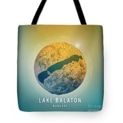 Lake Balaton 3d Little Planet 360-degree Sphere Panorama Tote Bag