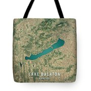 Lake Balaton 3d Render Satellite View Topographic Map Tote Bag