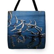 Lake Birds Tote Bag