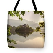 Lake Bled In The Morning Tote Bag