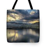 Lake Bled Sunset Tote Bag