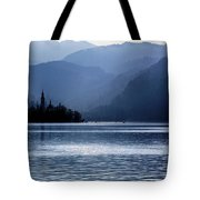 Lake Bled Twilight Tote Bag
