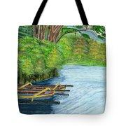 Lake Bratan Boats Bali Indonesia Tote Bag