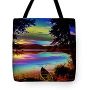 Lake Canoe Tote Bag
