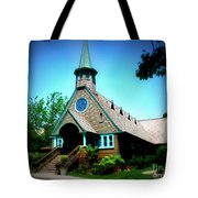 Lake Church Tote Bag