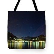 Lake Como Night Reflections Tote Bag