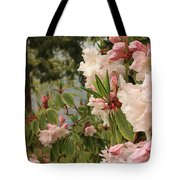 Lake Crescent Lodge Rhododendrons Tote Bag