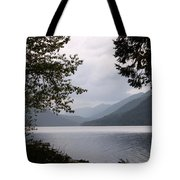 Lake Crescent Through The Trees Tote Bag