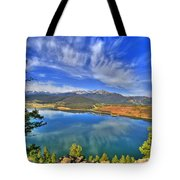 Lake Dillon Blue Tote Bag