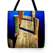 Lake Dock Tote Bag