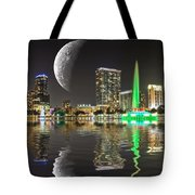 Lake Eola Moon Tote Bag