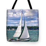 Lake Erie Sailing 8092h Tote Bag