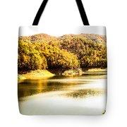 Lake Fantana In The Mountans Tote Bag