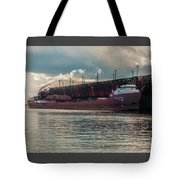 Lake Freighter - Honorable James L Oberstar Tote Bag