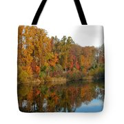 Lake Helene And Fall Foliage Tote Bag