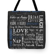Lake House Rules Tote Bag