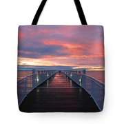 Lake Huron Pier Tote Bag