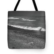 Lake Huron Windy Day 4 Bw Tote Bag