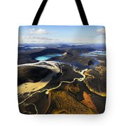 Lake In An Old Volcanic Crater Or Tote Bag