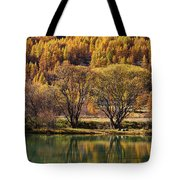 Lake In Autumn - 3 - French Alps Tote Bag