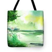 Lake In Clouds Tote Bag