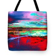 Lake In Red Tote Bag