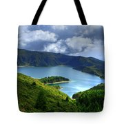 Lake In The Azores Tote Bag