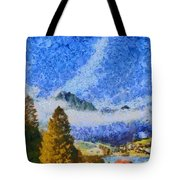 Lake In The Middle Of Swiss Beauty Tote Bag