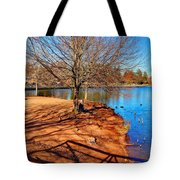 Lake Island Tote Bag