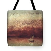 Lake Leman With Setting Sun Tote Bag by Gustave Courbet