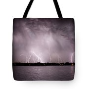 Lake Lightning Tote Bag