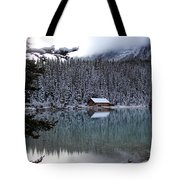 Lake Louise Boathouse Tote Bag