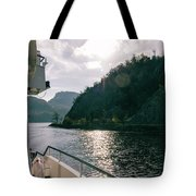 Lake Lucerne From A Boat  Tote Bag