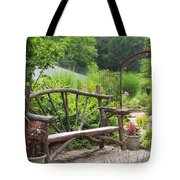 Lake Lure Flowering Bridge Bench Tote Bag
