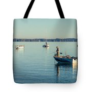 Lake Mendota Fishing Tote Bag