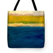 Lake Michigan Beach Abstracted Tote Bag by Michelle Calkins