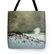Lake Michigan In The Winter Tote Bag