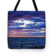 Lake Michigan Windy Sunrise Tote Bag