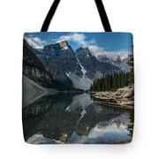 Lake Moraine Reflection Tote Bag