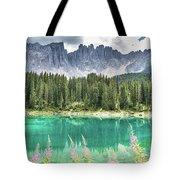 Lake Of Carezza - Italy Tote Bag