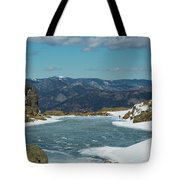 Lake Of Glass Winter Tote Bag