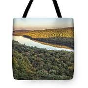 Lake Of The Clouds Sunset Tote Bag