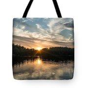 Lake Onaping Sunset Reflections Tote Bag