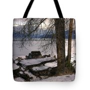 Lake Pend D'oreille At Humbird Ruins 1 Tote Bag