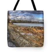 Lake Pend D'oreille At Humbird Ruins 2 Tote Bag