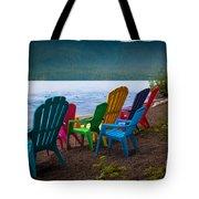 Lake Quinault Chairs Tote Bag