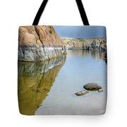 Lake Reflections At Granite Dells Tote Bag